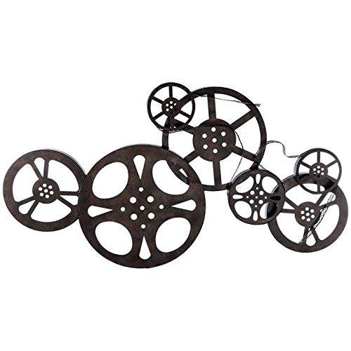 Antique Bronze Metal Movie Reel Wall Art (Vintage Film Reel compare prices)