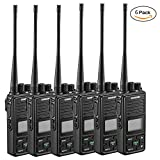Two Way Radio Samcom FPCN10A Walkie Talkie 20 Channel Wireless Intercom with Group Button Protable radio,UHF 400-470MHz with 2.5 Miles Range(Pack of 6)