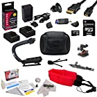 All Sport Accessory Kit For the GoPro HERO3+ Black Edition, HERO3+ Silver Edition, HERO3 SIlver Edition, Black Edition, White Edition Cameras - Kit Includes 32GB Micro SD Memory Card + (2) Extended Life 2000MAH AHDBT-301 Batteries + AC/DC Battery Charger, HDMI to Micro HDMI Cable, Opteka X-GRIP Action Stabilizing Handle + GoPro Hard Shell Carrying Case + Pro Series Outdoor Kit (Curved Helmet Mount & Arm Mount) + Floating Wrist Strap + Deluxe Lens Cleaning Kit + LCD Screen Protectors + GoPro Trip
