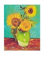 Legendarte Lienzo Vaso Con Tre Girasoli di Vincent Van Gogh