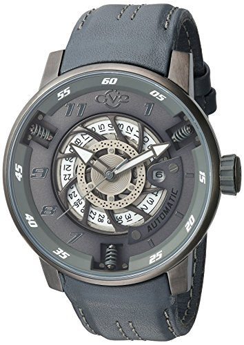 GV2-by-Gevril-Mens-Motorcycle-Sport-Automatic-Stainless-Steel-and-Leather-Casual-Watch-ColorGrey-Model-1303