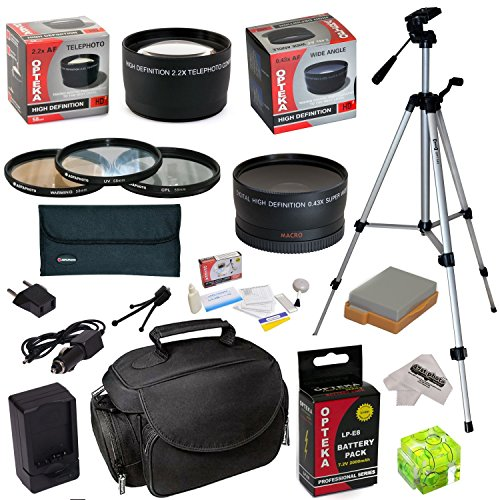 Must Have Accessory Kit For Canon Eos T2I T3I T4I T5I 550D 600D 650D 700D Kiss X4 X5 X6I X7I Dslr Digital Camera Includes - 58Mm 3 Piece Pro Filter Kit (Uv, Cpl, Fld) + 2.2X High Definition Ii Telephoto Lens + 0.43X High Definition Ii Wide Angle Panorama
