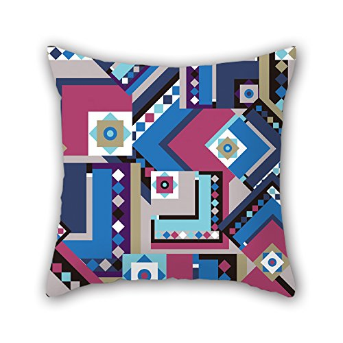 PILLO Geometry Pillow Shams ,best For Couch,bar,chair,husband,boy Friend,home Office 18 X 18 Inches / 45 By 45 Cm(2 Sides)