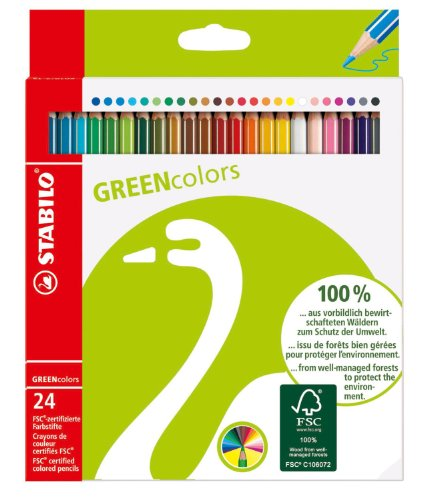 Image of Stabilo Green Colored Pencil Set of 24