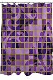Thumbprintz Shower Curtain, Damask Tiles Violet