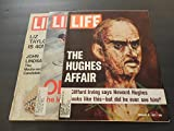 3 Issues Life Feb 4, 18, 25 1972 Elizabeth Taylor, Howard Hughes Affair