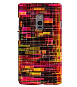 Blue Throat Confusing Pattern Printed Designer Back Cover/ Case For OnePlus 2