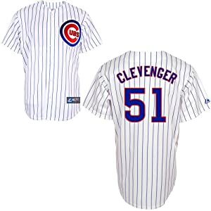 Steve Clevenger Chicago Cubs Replica Home Jersey by Majestic by Majestic