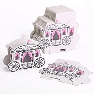 Amazon.com: 50x Laser Cut Coach Carriage Pearl Pink Favor