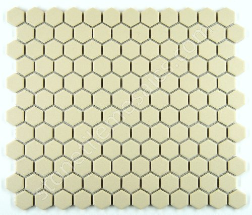 Hexagon White Porcelain Mosaic Tile Unglazed 3/4x3/4 Inch
