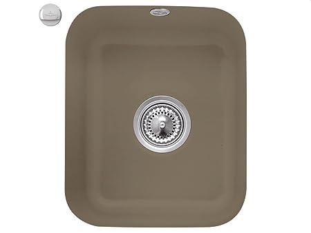 Villeroy & Boch Cist Erna 45Timber marrón fregadero de cerámica-Fregadero de cocina fregadero
