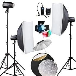 Godox Professional Photography 360Ws Studio Flash Strobe photo Light Lighting Lamp Softbox Kit