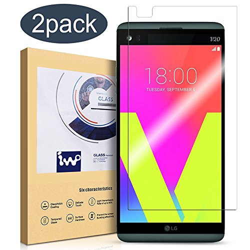 LG V20 Screen Protector, [2 Pack] IVVO Tempered Glass Screen Protector for LG V20 with [Ultra-Clear] [Scratch Proof] [Anti-Fingerprint] [No-Bubble Installation]