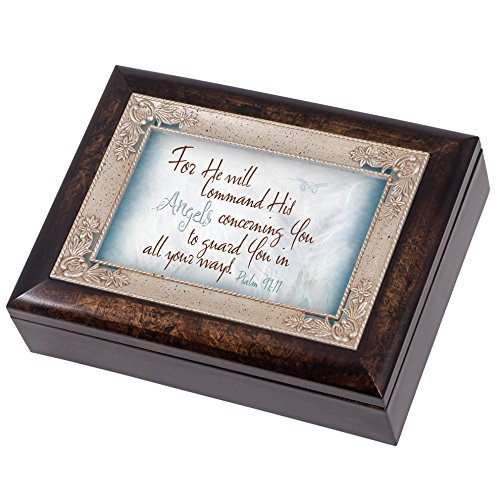 Angels Guard You Psalm 91:11 Italian Design Jewelry Music Box Plays Amazing Grace (Amazing Grace Picture compare prices)