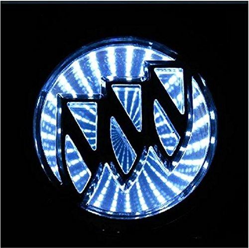 Safrone 3D LED Car Tail Logo Light Badge Lamp Emblem Sticker for BUICK EXCELLE (White) (Buick Emblem Light compare prices)