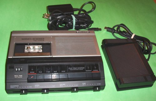 Sanyo Trc 7050A Minicassette Transcription Transcriber Machine System