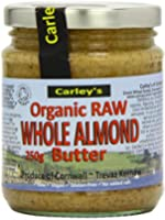 Carley's Organic Raw Almond Butter 250 g (Pack of 3)