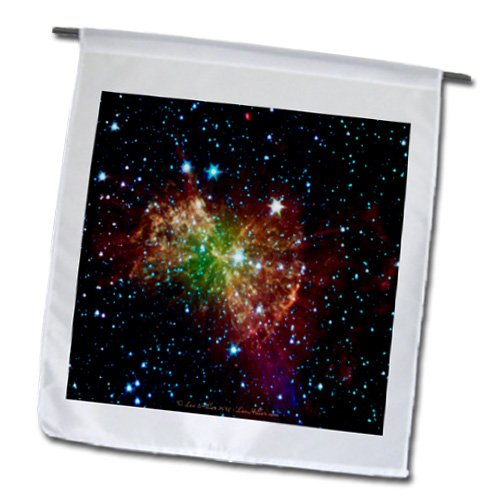 Lee Hiller Designs Space - In the Cosmos - Dumbbell Nebulapia - 18 x 27 inch Garden Flag (fl_61548_2)