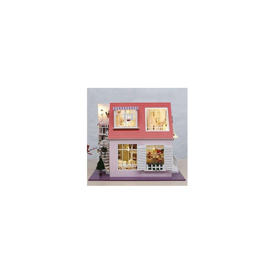 Dollhouse DIY Kit With Light plan toys dollhouse ldollhouse268 d33