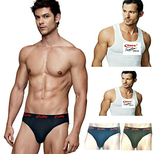 Euro & Rupa Men's Cotton Brief with Combo Pack 3 Brief & 2 Vest (Pack of 5)  available at amazon for Rs.385