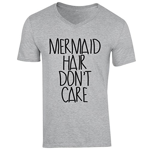 Mermaid Hair Don't Care Funny Unicorn Quote XXL Uomini V-Neck