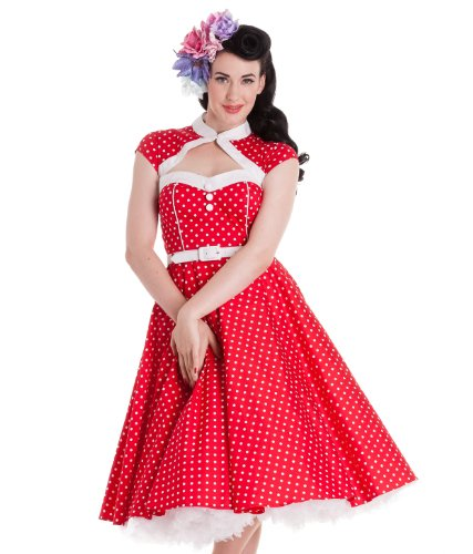 Hell Bunny Red Melanie Dress M - UK 10 / EU 38