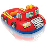 Playking Intex Pool Cruiser Red Fire Engine Inflatable Boat Float For Kids And Children