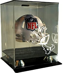 NFL Houston Texans Floating Mini Helmet Display with Museum Quality UV Upgrade, Clear by Caseworks