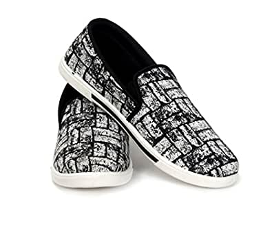 s black white 21a canvas casual shoes size