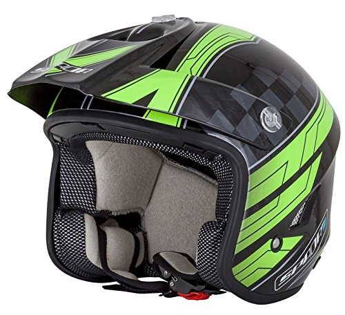 Spada Motorcycle Helmet Edge Explorer Trials Black/Fluo