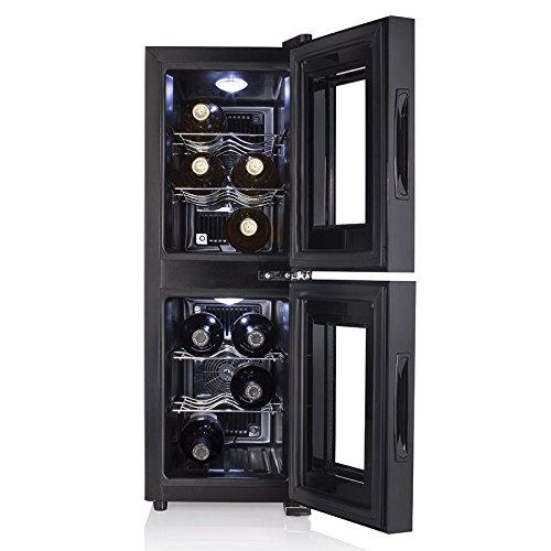 Cantinetta Frigo Doppia Zona 12 Bottiglie Vino Temperatura 7-18°C Tristar WR7512