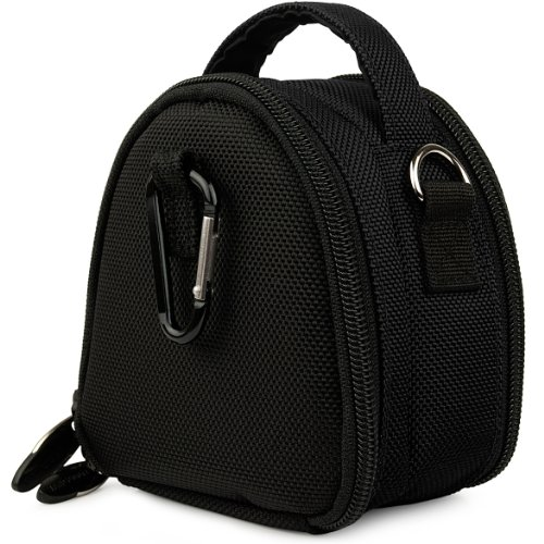 Black VG Laurel Edition Stylish Nylon Camera Carrying Case Pouch for Samsung ST66 ST93 ST95 ST90 ST65 ST30 ST700 ST80 ST100 ST550 SL202 SL30 SL102 DV300F MV800 PL150 PL170 PL120 PL200 PL210 PL100 SH100 WB210 WB700 WB2000 AQ100 WP10 TL350 TL210 TL205 TL240
