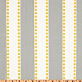 Premier Prints Lulu Stripe Twill Storm/Yellow Fabric By The Yard