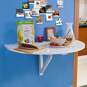 sobuy fwt10 w table murale murale rabattables table de cuisine pliante pliante table. Black Bedroom Furniture Sets. Home Design Ideas