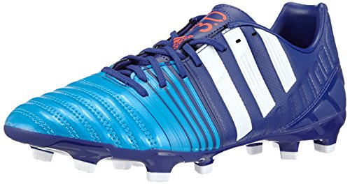 Adidas - Nitrocharge 3.0 Fg, Scarpa Da Calcetto da uomo, multicolore (amazon purple f14/ftwr white/solar blue2 s14), 40 2/3