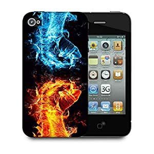 Snoogg Hand Cool L Designer Protective Phone Back Case Cover For Apple Iphone 4