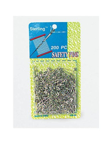 200Pc Safety Pins - Pack Of 96