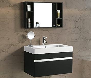 Mobile Arredo Bagno Idea 90 cm Sospeso Moderno Nero
