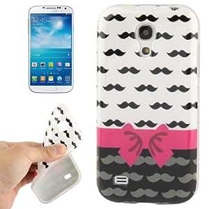 Mustache Pattern TPU Protective Case for Samsung Galaxy S IV mini / i9190