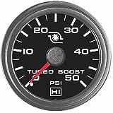 Hewitt 102TM5005 Universal Turbo Boost Gauge KIT - 50 PSI
