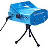 Mystore365 Neu mini Disco Laser Licht Beleuchtung Buehne Show DJ Mini Deutschland Versand EU/Laser Mini Light Projector Holographic Star Stage Lighting Club Bar Red & Green-Blau
