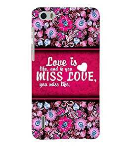 Love Is Life 3D Hard Polycarbonate Designer Back Case Cover for Huawei Honor 6
