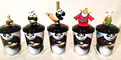 Kung Fu Panda 3 Movie Theater Exclusive Cup Topper Set #1 With 12 oz Cups