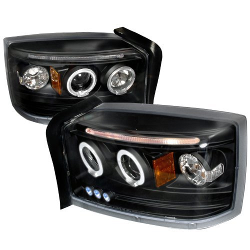 spec-d-tuning-2lhp-dak05jm-tm-dodge-dakota-dual-halo-led-projector-black-head-lights-pair