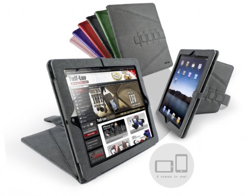 Tuff-Luv Tri-Axis Stasis Series: Soft Micro-fibre Case Cover for Apple iPad 2 - Grey