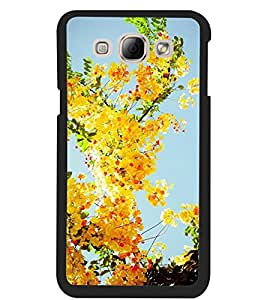 ColourCraft Lovely Flowers Design Back Case Cover for SAMSUNG GALAXY A8