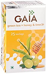 Gaia Green Tea Honey & Lime 25 tea bags