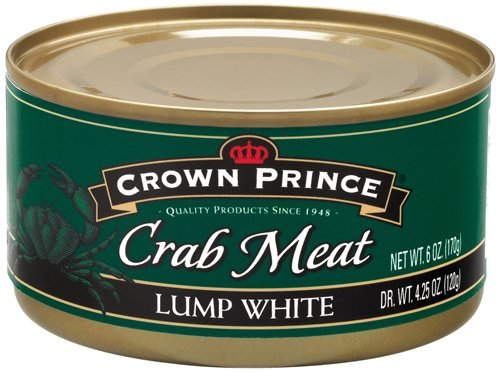 Crown Prince Lump White Crab Meat, 6-Ounce Cans (Pack of 12) (Can Crab Meat compare prices)
