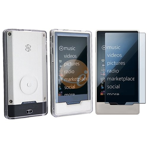 Clear Hard accessory case for Zune HD+Screen Protector