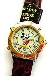 Unisex Rare Out Of Production Musical Day Glow Lorus Disney Watch R2314AX`